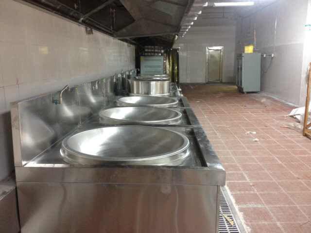 Lắp đặt bếp từ công nghiệp cho nhà máy Hòa Phát Hưng Yên