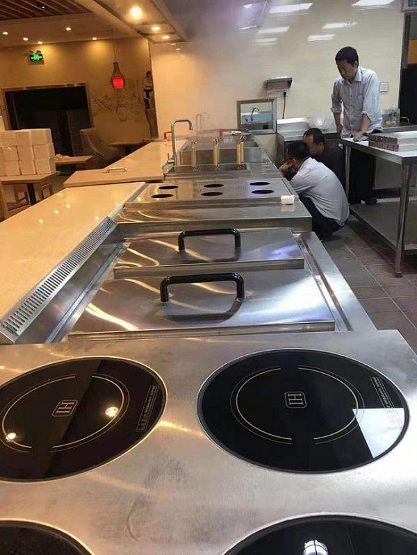 Lắp đặt bếp từ công nghiệp cho trường Đại Học Ngoại Thương