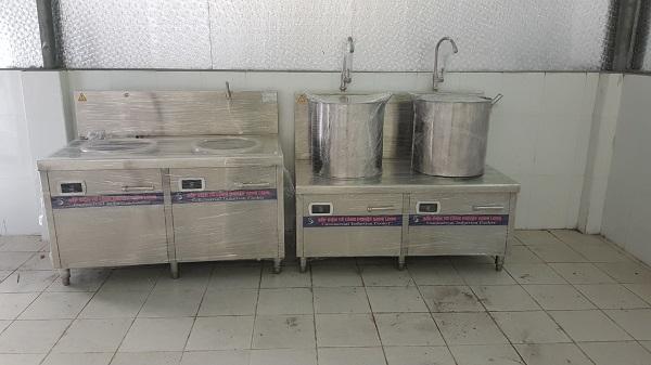 Lắp đặt bếp từ công nghiệp cho Bộ quốc phòng