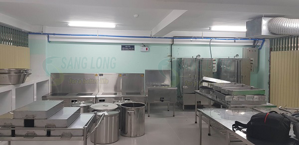 Lắp đặt bếp từ công nghiệp cho Khu liên hợp gang thép Hòa Phát