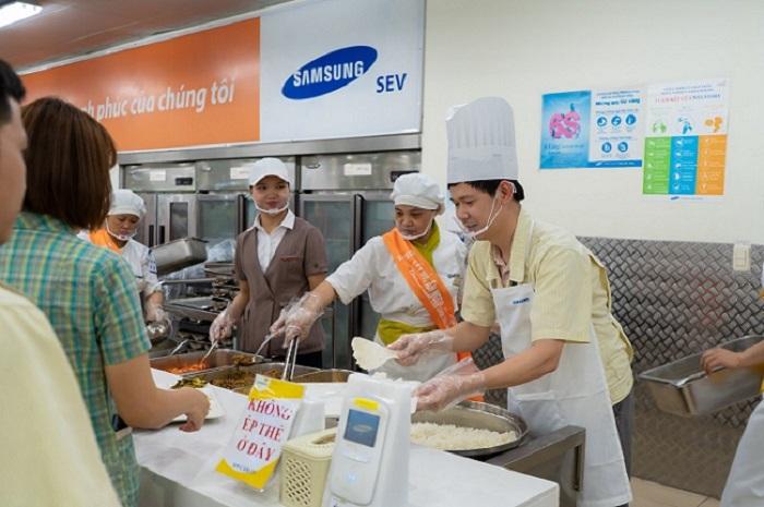 Dự án bếp từ công nghiệp cho SAMSUNG Thái Nguyên
