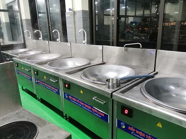 Lắp đặt thêm hệ thống bếp từ công nghiệp cho Thực Phẩm Sao Việt