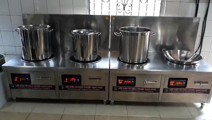 Dự án bếp từ đôi cho Tổng công ty xăng dầu quân đội