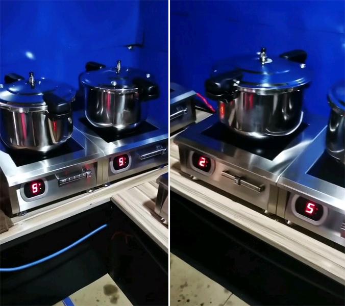 Dự án bếp từ 5kw để bàn cho Nhà hàng Chum